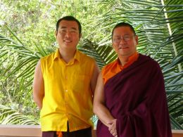 HE Gyangkhang Rinpoche with Ven. Lama Dondrup Dorje