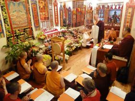 Lama Choepa at the Pathgate Dharma Centre in Newcastle upon Tyne