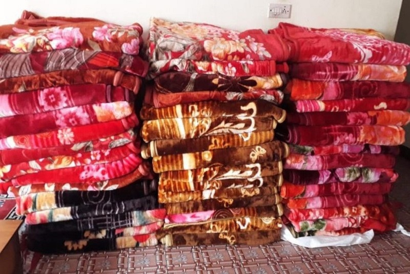 Blankets for the school children.