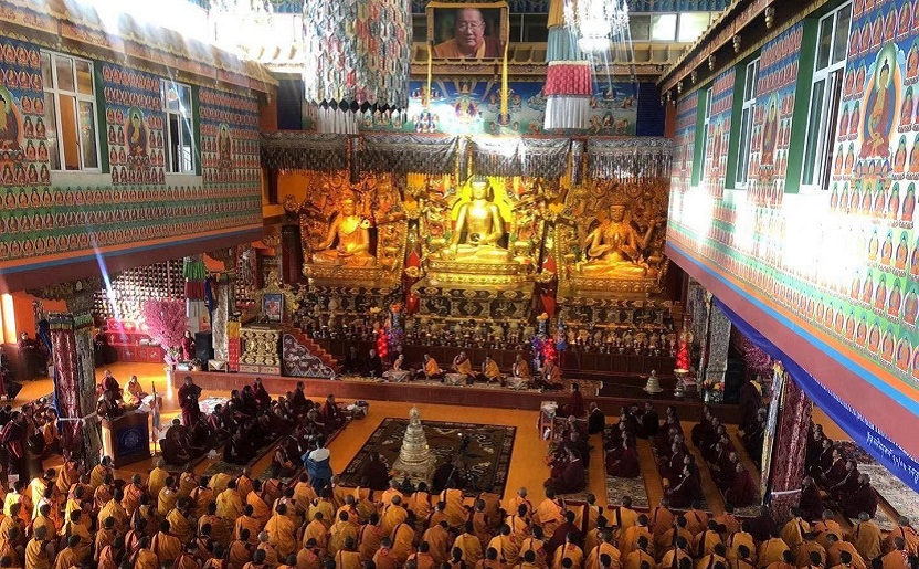 His Holiness Karma Kuchen Rinpoche enthroned the 3rd batch of Khenpo of Palyul Namgyal Jangchub Choeling Monastery