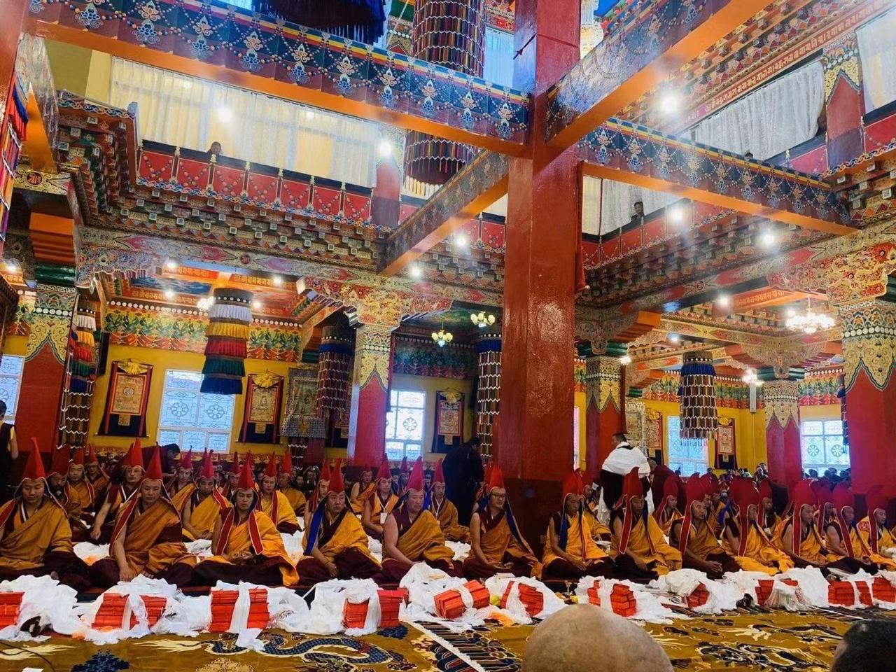 All the newly enthroned Khenpo were presented with gift of Dharma Text and khata
