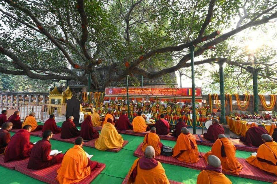 Around 100 monks attend the Monlam
