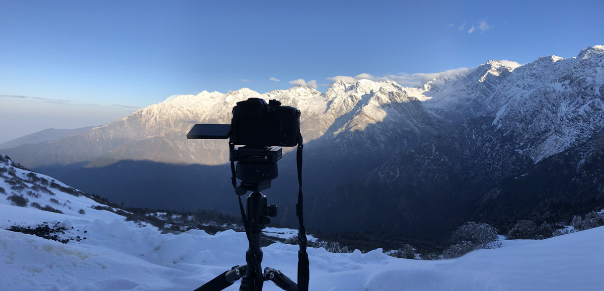 Filming on the Tharepati pass