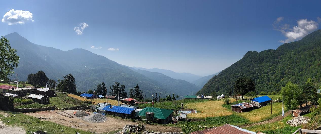 Το σπίτι του Κένπο Νυίμα Ντόντρουπ Ρίνποτσε στο χωριό Μελάμτσι Γκυανγκ στο Γιόλμο