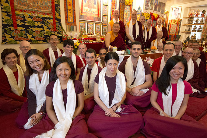 Rinpoche with students at the conclusion of the Pathgate Summer Retreat