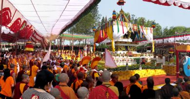 Devotees gather for Kudung Zhugbul