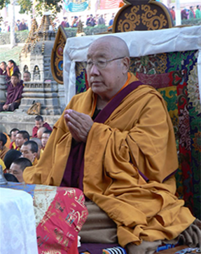 His Holiness Penor Rinpoche at the World Peace Ceremony of the 17th Nyingma Monlam Chenmo